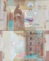 Kuwait Pick-Nr: 29a Bankfrisch 2014 1/4 Dinar - Kuwait