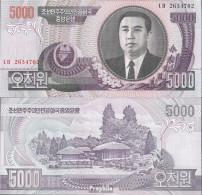Nord-Korea Pick-Nr: 46c Bankfrisch 2006 5.000 Won - Korea (Nord-)