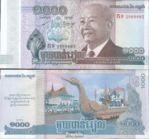Kambodscha Pick-Nr: 63a Bankfrisch 2012 1.000 Riels - Kambodscha