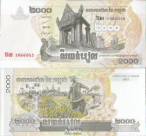 Kambodscha Pick-Nr: 59a Bankfrisch 2007 2.000 Riels - Kambodscha