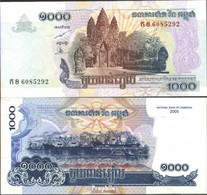 Kambodscha Pick-Nr: 58a Bankfrisch 2005 1.000 Riels - Kambodscha