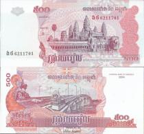 Kambodscha Pick-Nr: 54b Bankfrisch 2004 500 Riels - Kambodscha