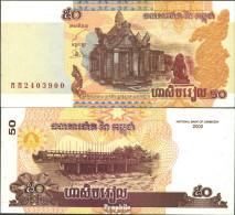 Kambodscha Pick-Nr: 52a Bankfrisch 2002 50 Riels - Kambodscha