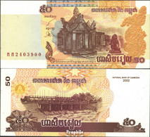 Kambodscha Pick-Nr: 52a Bankfrisch 2002 50 Riels - Cambodia