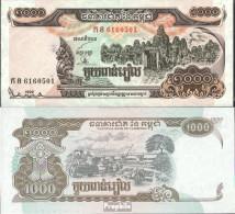 Kambodscha Pick-Nr: 51a Bankfrisch 1999 1.000 Riels - Cambodia