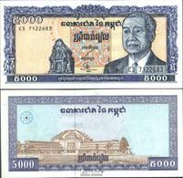 Kambodscha Pick-Nr: 46b (Signatur 17) Bankfrisch 1998 5.000 Riels - Kambodscha