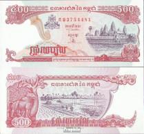 Kambodscha Pick-Nr: 43b, Signatur 16 Bankfrisch 1998 500 Riels - Kambodscha