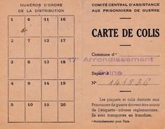 Carte De Colis Comité Central D'assistance Aux Prisonniers De Guerre Stalag VA - Postmark Collection (Covers)