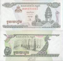 Kambodscha Pick-Nr: 41a Bankfrisch 1995 100 Riels - Kambodscha