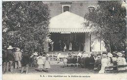 """Somme : Onival, Villa """"Popote), Une Répétition Sur Le Theatre De Verdure - Onival"""