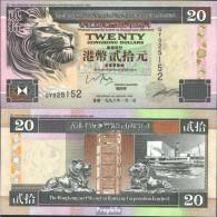 Hongkong Pick-Nr: 201d (1998) Bankfrisch 1998 20 Dollars - Hongkong