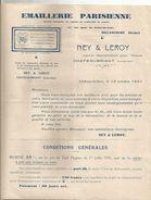 Publicité , Emaillerie Parisienne , Billancourt , Seine , 1931, TARIF , 2 Scans , Frais Fr : 1.45e - Advertising