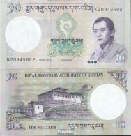 Bhutan Pick-Nr: 29b Bankfrisch 2013 10 Ngultrum - Bhutan