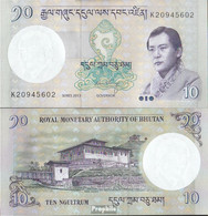 Bhutan Pick-Nr: 29b Bankfrisch 2013 10 Ngultrum - Bhoutan