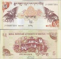 Bhutan Pick-Nr: 28a Bankfrisch 2006 5 Ngultrum - Bhutan