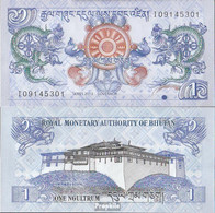 Bhutan Pick-Nr: 27b Bankfrisch 2013 1 Ngultrum - Bhutan