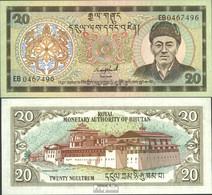 Bhutan Pick-Nr: 16b Bankfrisch 1992 20 Ngultrum - Bhutan
