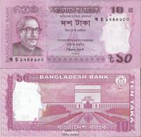 Bangladesch Pick-Nr: 54b Bankfrisch 2013 10 Taka - Bangladesch