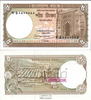 Bangladesch Pick-Nr: 25c Bankfrisch 1983 5 Taka - Bangladesch