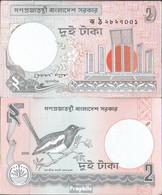 Bangladesch Pick-Nr: 6C L Bankfrisch 2008 2 Taka - Bangladesch