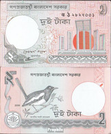 Bangladesch Pick-Nr: 6C L Bankfrisch 2008 2 Taka - Bangladesh