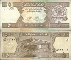 Afghanistan Pick-Nr: 66a Bankfrisch 2002 5 Afghanis - Afghanistan