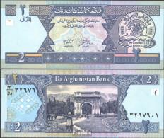 Afghanistan Pick-Nr: 65a Bankfrisch 2002 2 Afghanis - Afghanistan