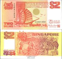 Singapur Pick-Nr: 27 Bankfrisch 1990 2 Dollars - Singapur