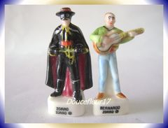 Zorro I ... Lot De 2 Fèves (Ecrit Différent) ... Ref AFF : 69-1998 .. (pan 0011) - Disney