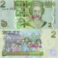 Fidschi-Inseln Pick-Nr: 109a Bankfrisch 2007 2 Dollars - Fidschi