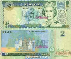 Fidschi-Inseln Pick-Nr: 96b Bankfrisch 2002 2 Dollars - Fidji