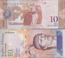 Venezuela Pick-Nr: 90c Bankfrisch 2011 10 Bolivares - Venezuela