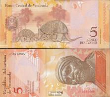 Venezuela Pick-Nr: 89c Bankfrisch 2008 5 Bolivares - Venezuela