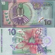 Suriname Pick-Nr: 147 Bankfrisch 2000 10 Gulden Vogel - Suriname