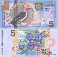 Suriname Pick-Nr: 146 Bankfrisch 2000 5 Gulden Vogel - Suriname