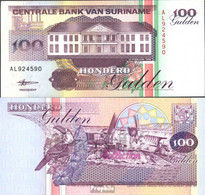 Suriname Pick-Nr: 139a Bankfrisch 1991 100 Gulden - Suriname