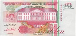 Suriname Pick-Nr: 137b (1996) Bankfrisch 1996 10 Gulden - Surinam