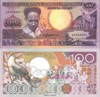 Suriname Pick-Nr: 133b Bankfrisch 1988 100 Gulden - Suriname