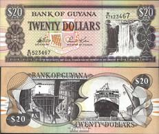 Guyana Pick-Nr: 30d, Signatur 13 Bankfrisch 1996 20 Dollars - Guyana