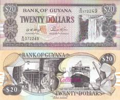 Guyana Pick-Nr: 30b2, Signatur 12 Bankfrisch 1996 20 Dollars - Guyana