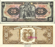 Ecuador Pick-Nr: 121A A (1988) Bankfrisch 1988 20 Sucres - Ecuador