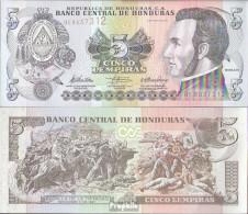 Honduras Pick-Nr: 91c Bankfrisch 2010 5 Lempiras - Honduras