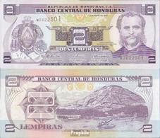 Honduras Pick-Nr: 90 (2010) Bankfrisch 2010 2 Lempiras - Honduras
