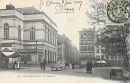 St Saint-Etienne - Le Théâtre, Place Des Ursules - Carte M.T.I.L. Animée N° 18 - Saint Etienne