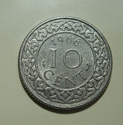 Suriname 10 Cent 1966 - Monnaies