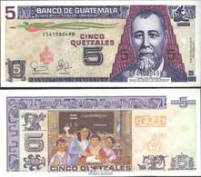 Guatemala Pick-Nr: 106 Bankfrisch 2003 5 Quetzales - Guatemala