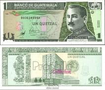 Guatemala Pick-Nr: 99 Bankfrisch 1998 1 Quetzal - Guatemala