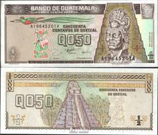 Guatemala Pick-Nr: 96a Bankfrisch 1996 1/2 Quetzal - Guatemala