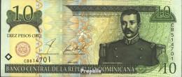 Dominikanische Republik Pick-Nr: 165b Bankfrisch 2001 10 Pesos - Dominikanische Rep.