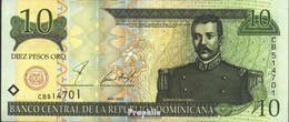 Dominikanische Republik Pick-Nr: 165b Bankfrisch 2001 10 Pesos - Dominicana